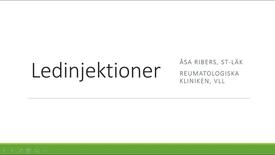Miniatyr för inlägg Ledinjektioner Åsa Ribers