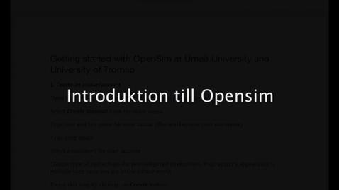 Miniatyr för inlägg Opensim-01-skapakonto