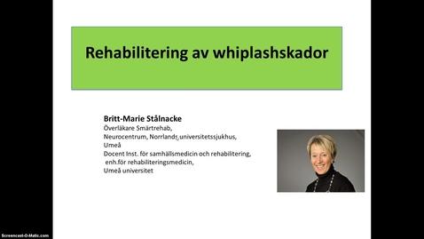 Miniatyr för inlägg T8 Smärtrehab - Rehabilitering av whiplashskador BMS 2014.mp4