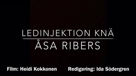 Miniatyr för inlägg Ledinjektion knä Åsa Ribers