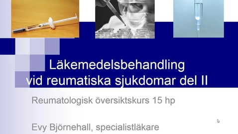 Miniatyr för inlägg Farmakoterapi del II Evy Björnehall