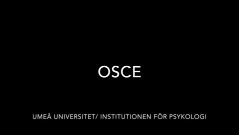 Miniatyr för inlägg OSCE Objective Structured Clinical Examination vid Institutionen för Psykologi i Umeå