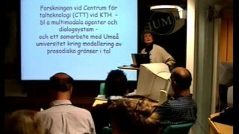 """Miniatyr för inlägg 040429 CTT: """"Forskningen vid Centrum för Talteknologi (CTT) vid KTH"""""""
