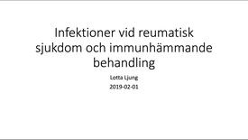 Miniatyr för inlägg Infektioner vid inflammatorisk reumatisk sjukdom 190203