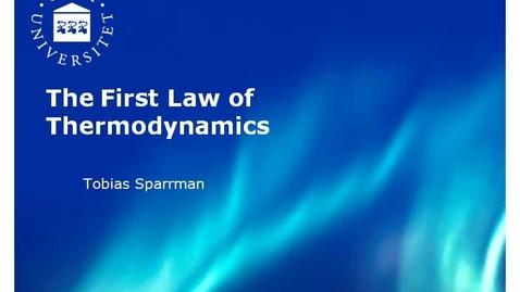 Miniatyr för inlägg 1. First law