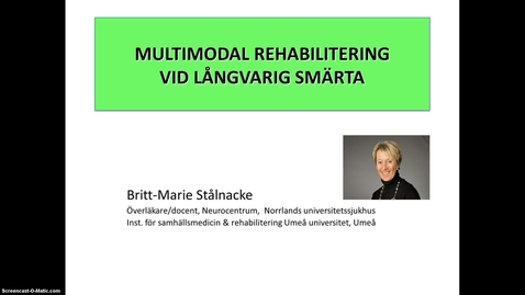 Miniatyr för inlägg T8 Smärtrehab - Multimodal smärtrehabilitering BMS 2014.mp4