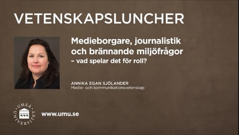 Miniatyr för inlägg Vetenskapsluncher Annika Egan Sjölander 18 februari 2016