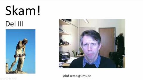 Miniatyr för inlägg T8 PU - Skam 3 Skamhantering - Olof Semb 2016 24 min