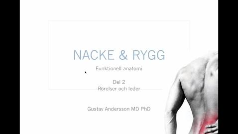 Miniatyr för inlägg T8 Anatomi - Nacke-Rygg GAndersson del2 15min.mp4