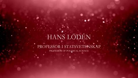 Thumbnail for entry Hans Lödén, professor i statsvetenskap