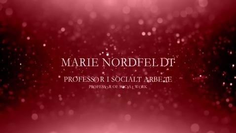 Thumbnail for entry Marie Nordfeldt, professor i socialt arbete