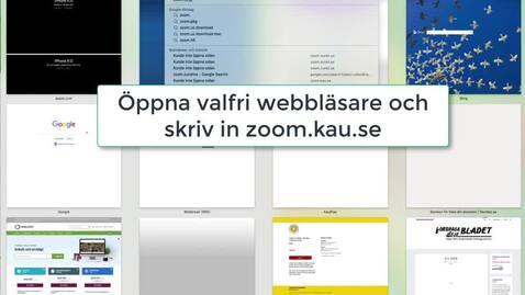 Thumbnail for entry Inställningar i Zoom