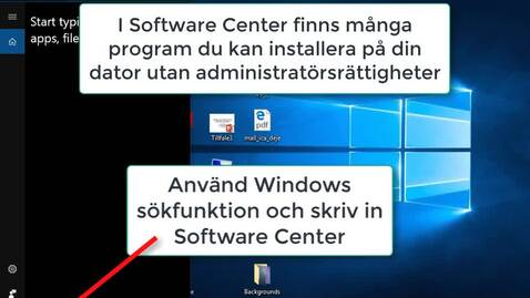 Thumbnail for entry Installera program via Software Center