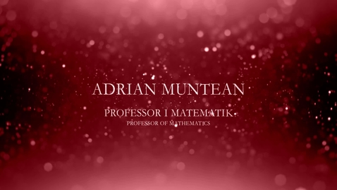Thumbnail for entry Adrian Muntean, professor i matematik