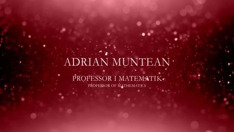 Thumbnail for entry Adrian Muntean, professor i matematik
