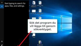Thumbnail for entry Fäst program i aktivitetsfältet - Pin to taskbar