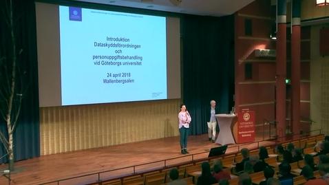 Miniatyr för inlägg Introduktion till dataskyddsförordningen och personuppgiftsbehandling vid Göteborgs universitet