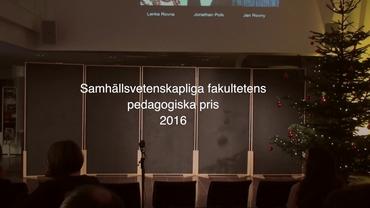 Video thumbnail for Samhällsvetenskapliga fakultetens pedagogiska pris 2016 97eee4030ceb8