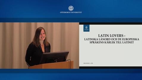 Miniatyr för inlägg SPL språkdag 2015-10-08: Sara Ehrling om latin