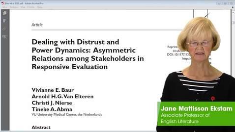 Miniatyr för inlägg Analysis of Dealing with Distrust and Power Dynamics