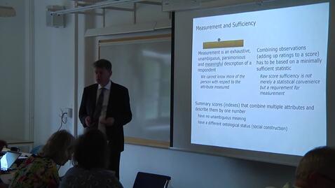 Miniatyr för inlägg Thomas Salzberger - Six decades of measurement using the Rasch model in the social sciences - part 2