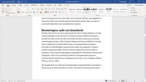 Miniatyr för inlägg Word365 - Sidbrytning och avsnittsbrytning