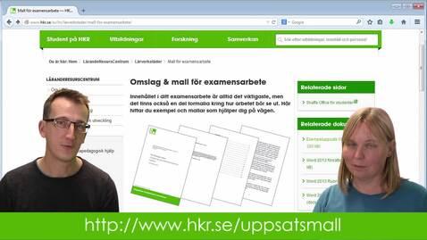 Miniatyr för inlägg Examensarbete - mall för omslag