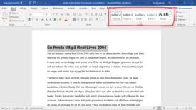 Miniatyr för inlägg Word 365 - Snabb automatisk innehållsförteckning om du formaterat konsekvent