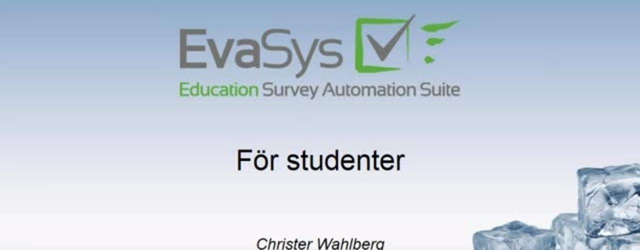 Introduktion Evasys for studenter