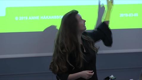 Miniatyr för inlägg Anne Håkansson – Artificiell intelligens / 2019