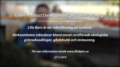 Miniatyr för inlägg Module 5: Green product development and service design. Lilla Bjers
