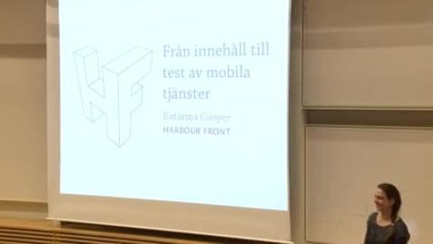 Miniatyr för inlägg Katarina Cooper – Från innehåll till test inom mobila tjänster / 2014