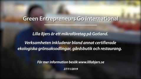 Miniatyr för inlägg Module 8: Green entrepreneurs go international. Lilla Bjers