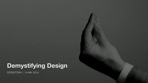 Miniatyr för inlägg Stefano Oliva – Demystifying design / 2019