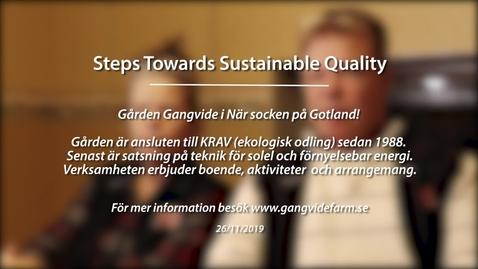 Miniatyr för inlägg Module 4: Steps towards sustainable quality. Gangvide Farm