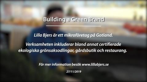 Miniatyr för inlägg Module 3: Building a green brand. Lilla Bjers