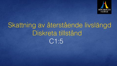 Thumbnail for entry Skattning av återstående livslängd - Diskreta tillstånd Modul C1:5