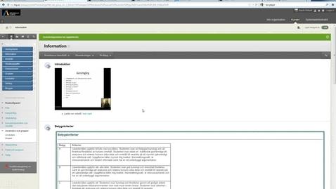 Thumbnail for entry Granskningsstatus pa innehallsobjekt Blackboard Learn 9.1 (1)