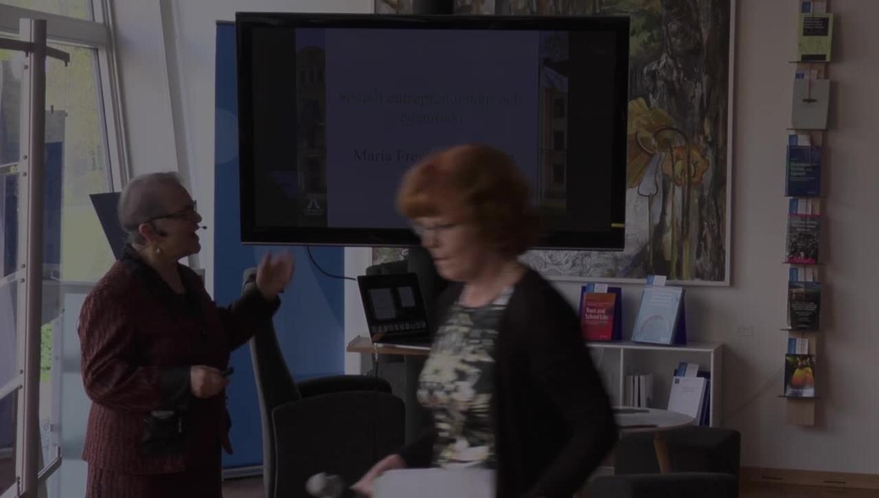 Föredragsserien 12 minuter över 12 – Maria Fregidou-Malama