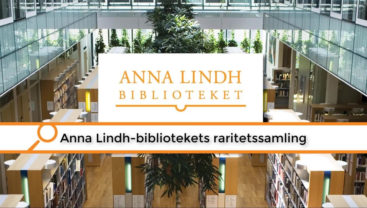 Anna Lindh-bibliotekets raritetsmagasin