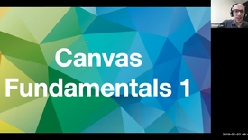 Thumbnail for entry Canvas Fundamentals Traing Part I