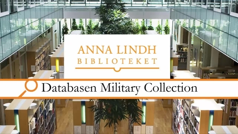 Thumbnail for entry Databasen Military Collection