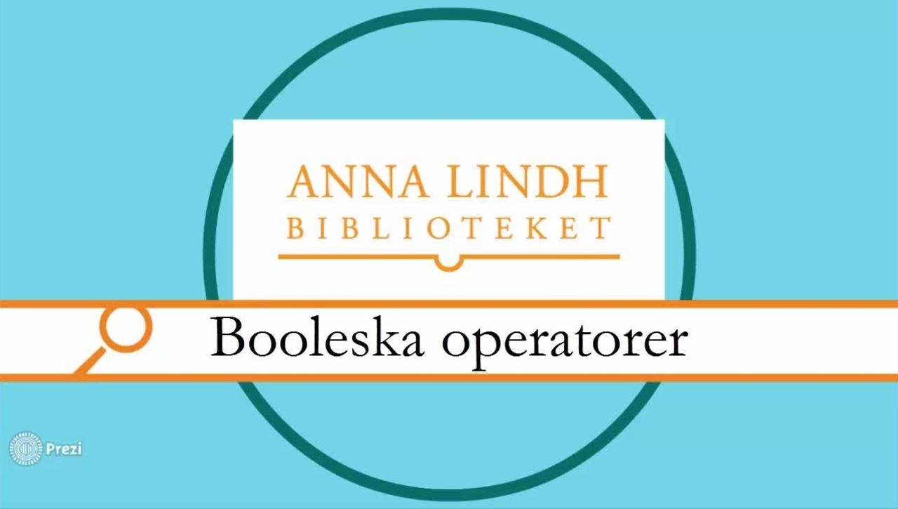 Booleska operatorer