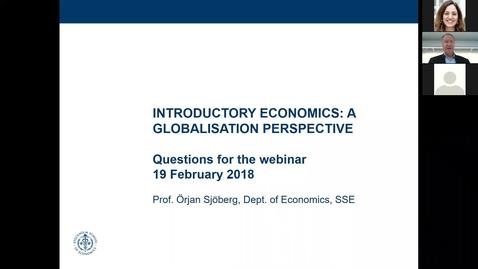 Thumbnail for entry Economics Webinar February 20th 2018 Örjan
