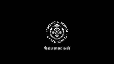 Thumbnail for entry Measurement levels