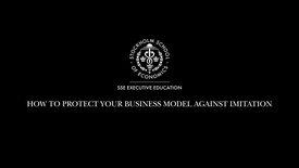 Thumbnail for entry Protecting your business model against imitation