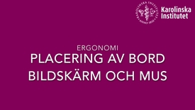 Thumbnail for entry Ergonomi ställ in bord, skärm, lap top, mus