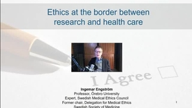 Thumbnail for entry Ethics & the Future - Ingemar Engström