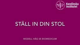 Thumbnail for entry ERGONOMI - Ställ in stolen (Modell Håg 05)