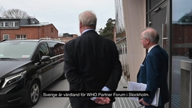 Thumbnail for entry Director-General of the WHO visited Karolinska Institutet
